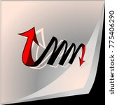 double curved arrow.paper flip. | Shutterstock .eps vector #775406290