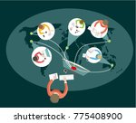 remote work or distance... | Shutterstock .eps vector #775408900