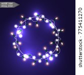 christmas lights isolated on... | Shutterstock .eps vector #775411270