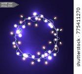 christmas lights isolated on... | Shutterstock .eps vector #775411270