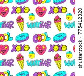 vector seamless pattern with... | Shutterstock .eps vector #775412320