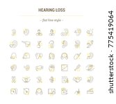 graphic illustration. set icons ... | Shutterstock . vector #775419064