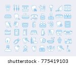 vector graphic set. icons in... | Shutterstock .eps vector #775419103