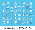 vector graphic set. icons in... | Shutterstock .eps vector #775419106