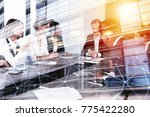 businessmen that work together... | Shutterstock . vector #775422280