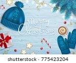 merry christmas greeting... | Shutterstock .eps vector #775423204
