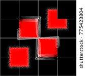 trendy geometric elements... | Shutterstock .eps vector #775423804