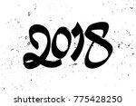 greeting card design template... | Shutterstock .eps vector #775428250
