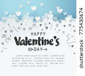 paper art of group of heart... | Shutterstock .eps vector #775430674
