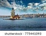 the maiden's tower  kiz kulesi  ... | Shutterstock . vector #775441093