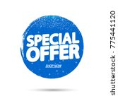 special offer  banner design... | Shutterstock .eps vector #775441120