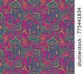 seamless  floral vector... | Shutterstock .eps vector #775441834