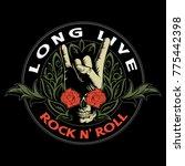 hard rock  heavy metal  sign of ... | Shutterstock .eps vector #775442398