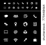 media and communication icons | Shutterstock .eps vector #775448464