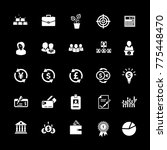investment icons set | Shutterstock .eps vector #775448470