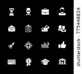 business icons set | Shutterstock .eps vector #775448824