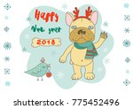 christmas and happy new year... | Shutterstock .eps vector #775452496