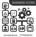business icons set and symbols... | Shutterstock .eps vector #775456924