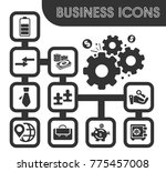 business icons set and symbols... | Shutterstock .eps vector #775457008