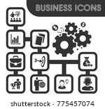 business icons set and symbols... | Shutterstock .eps vector #775457074