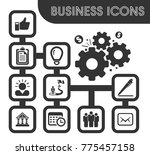 business icons set and symbols... | Shutterstock .eps vector #775457158