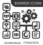business icons set and symbols... | Shutterstock .eps vector #775457374