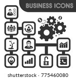 business icons set and symbols... | Shutterstock .eps vector #775460080