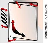 double headed arrow.paper flip... | Shutterstock .eps vector #775460398