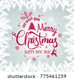 merry christmas and new year... | Shutterstock .eps vector #775461259