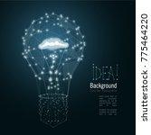 lightbulb composed of polygon.... | Shutterstock .eps vector #775464220