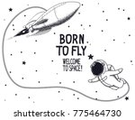born to fly.vector illustration ... | Shutterstock .eps vector #775464730