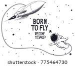 born to fly.vector illustration ... | Shutterstock .eps vector #775464730