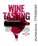 template with wine bottle...   Shutterstock .eps vector #775468360