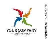 goldfish colorful logo.  vector ... | Shutterstock .eps vector #775476670