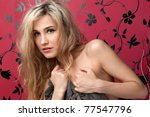 torso portrait of the beautiful ... | Shutterstock . vector #77547796