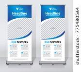 roll up sale banner design... | Shutterstock .eps vector #775480564