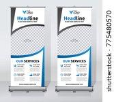 roll up sale banner design... | Shutterstock .eps vector #775480570