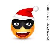smiley emoticon. yellow emoji ... | Shutterstock .eps vector #775484854