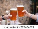 beer celebration winter | Shutterstock . vector #775486324