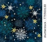 seamless retro christmas... | Shutterstock .eps vector #775503130