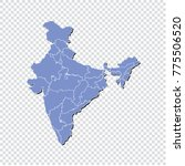 india map isolated on... | Shutterstock .eps vector #775506520