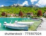 marina in talloires at lake...   Shutterstock . vector #775507024