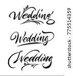 wedding calligraphy handwriting ...   Shutterstock .eps vector #775514359
