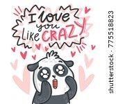 cute panda bear madly in love...