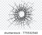 broken glass  cracks  bullet... | Shutterstock .eps vector #775532560