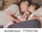 Family Portrait Of Happy Fathe...