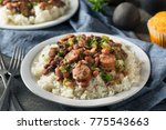 southern red beans and rice... | Shutterstock . vector #775543663