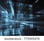 fractal art   computer image ...   Shutterstock . vector #775545370