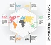 infographic world map  vector...   Shutterstock .eps vector #775546648