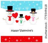 snowman family   happy... | Shutterstock . vector #775549618